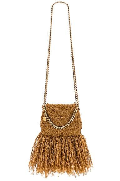 Stella McCartney Mini Falabella Novelty Shoulder Bag in Camel | FWRD