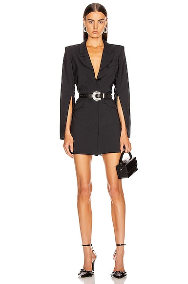 Zip Sleeve Coat Dress