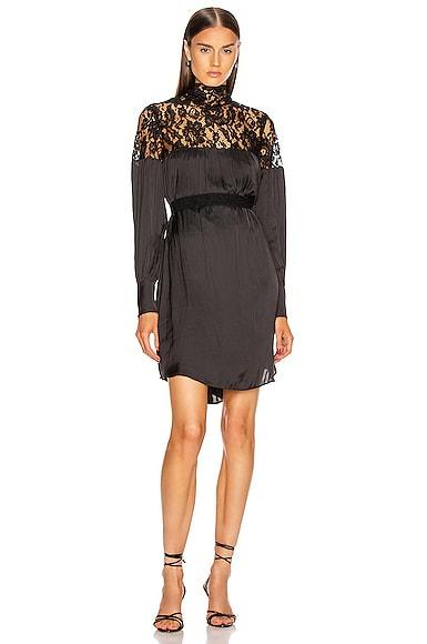 Belted Mini Lace Dress
