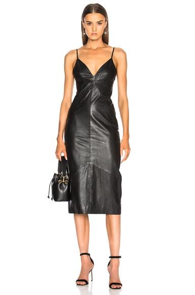 Leather Slip Dress