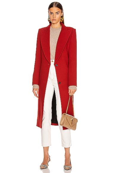 Peaked Lapel Coat