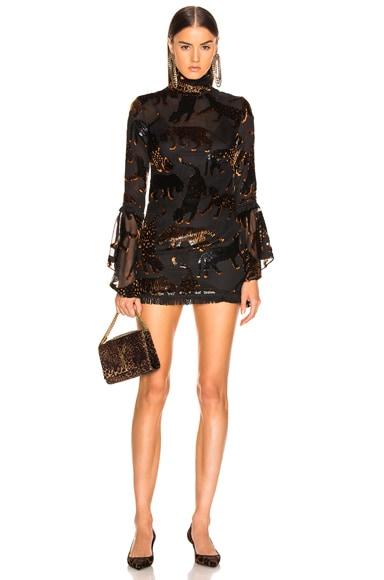 Leopard des Neiges Mini Dress