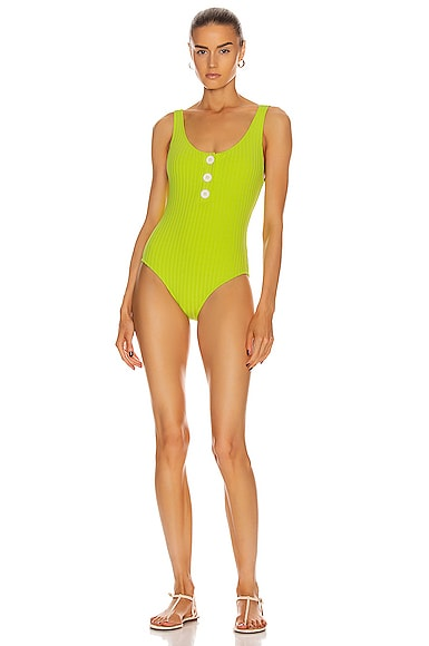 Anne-Marie Button Swimsuit