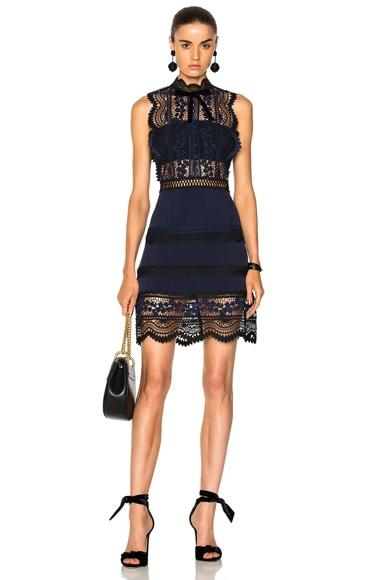 Sleeveless Bellis Lace Trim Dress