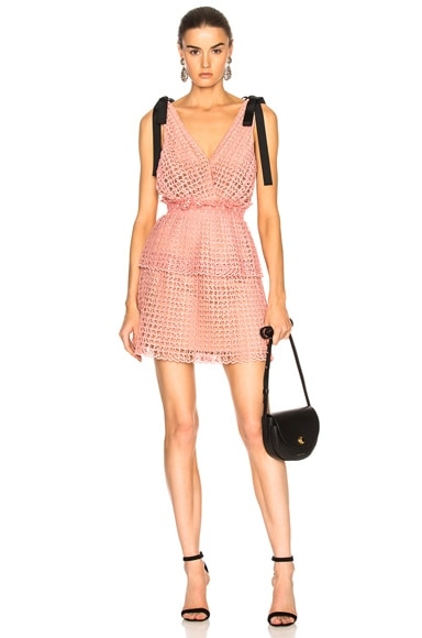 f9194e6dadc6 Cutwork Mini Dress Cutwork Mini Dress. self-portrait