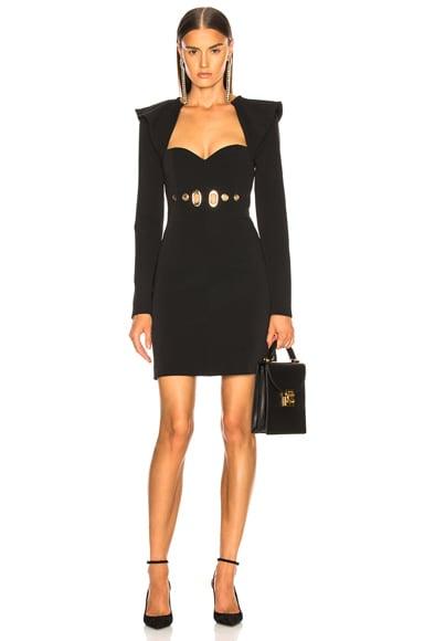 Drape Back Mini Dress