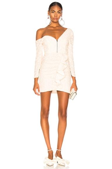 Sequin Ruffle Mini Dress