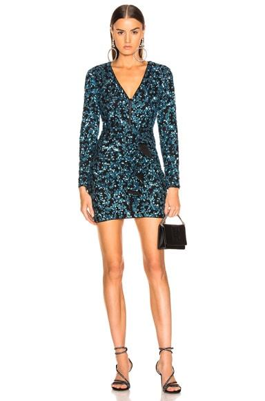 Sequin Frill Mini Dress