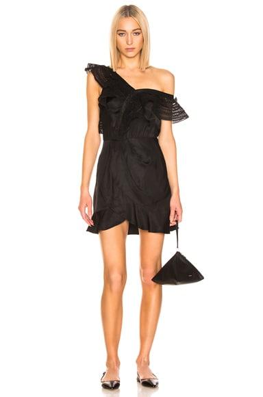 One Shoulder Frilled Dress