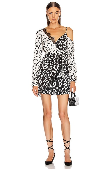 Leopard Printed Wrap Dress