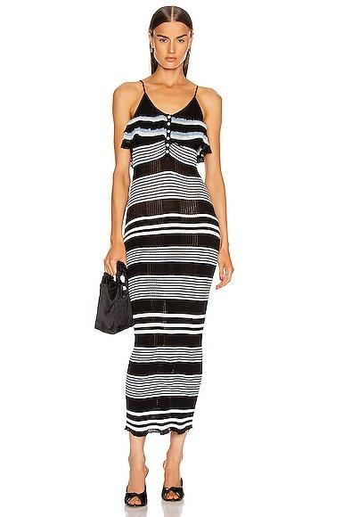 Stripe Fine Knit Cami Dress