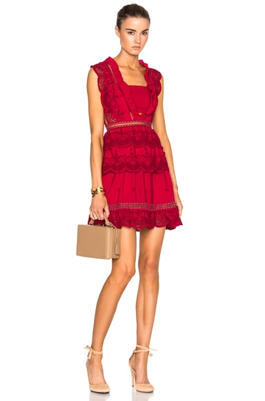 Tiered Peplum Lace Dress