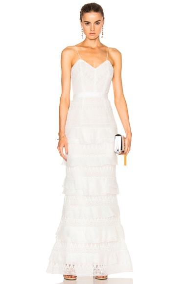Penelope Tiered Teardrop Lace Dress