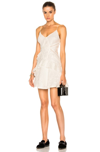 White Jacquard Mini Dress