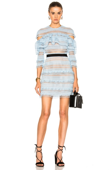 Stripe Grid Mini Dress