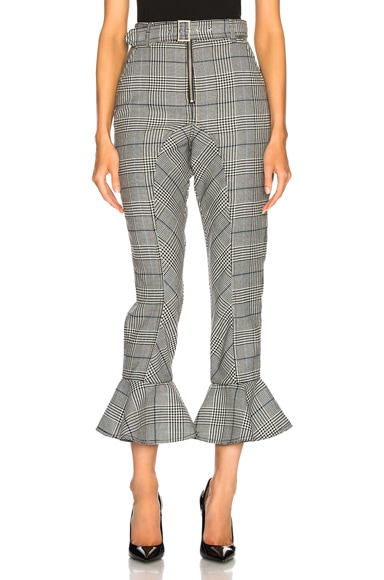 Frilled Check Trousers