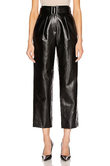 Faux Leather High Waist Trouser Pant