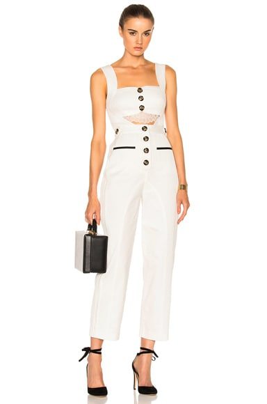 Button Cut-out Jumpsuit
