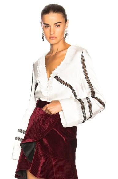Monochrome Trimmed Shirt