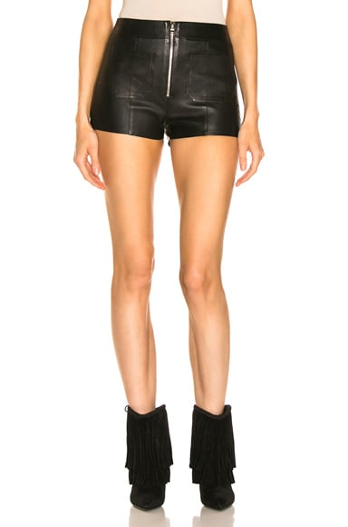 Exposed Zip Hot Pants