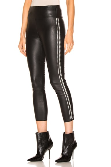 Athletic Rhinestone Stripe Capri