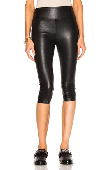High Waist Crop Leather Legging