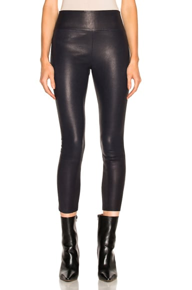 High Waist Capri Leather Legging