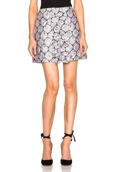 Center Ruffle Mini Skirt