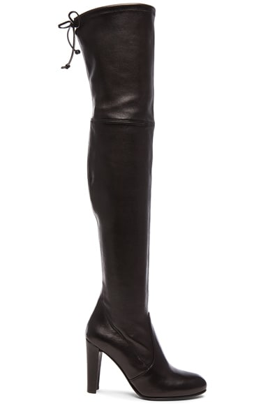 Stretch Leather Highland Boots