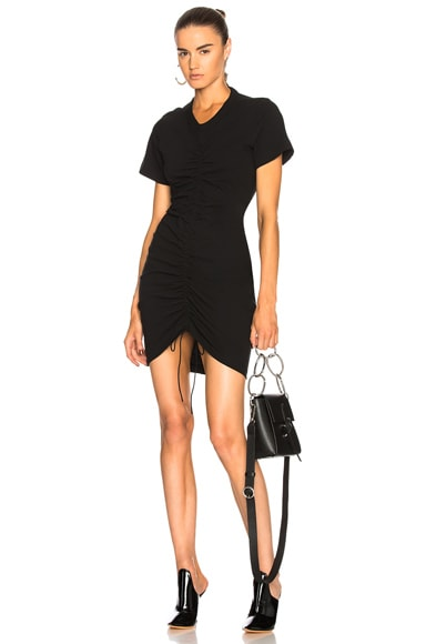 Twist Dress with Ruched Front