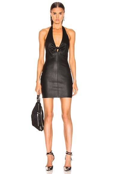 Leather Halter Dress