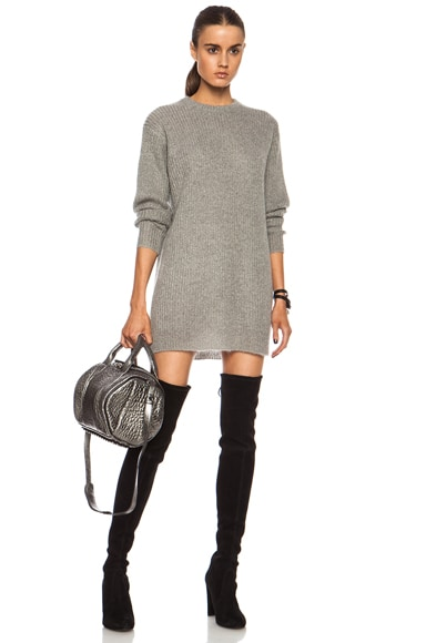 Mohair-Blend Knit Tunic Dress