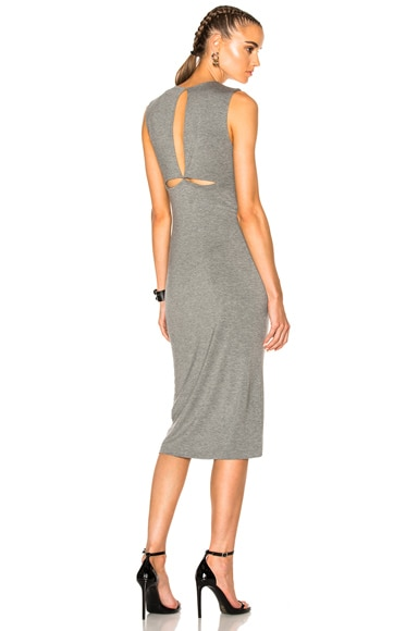 Modal Spandex Back Slit Dress