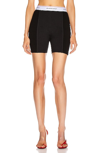 Wash and Go Rib Biker Shorts