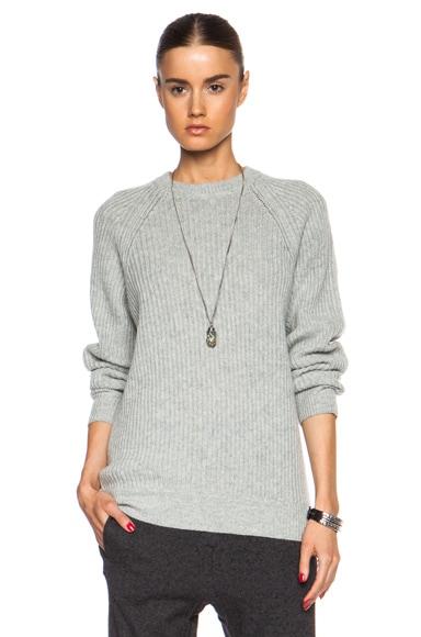 Crewneck Wool-Blend Pullover