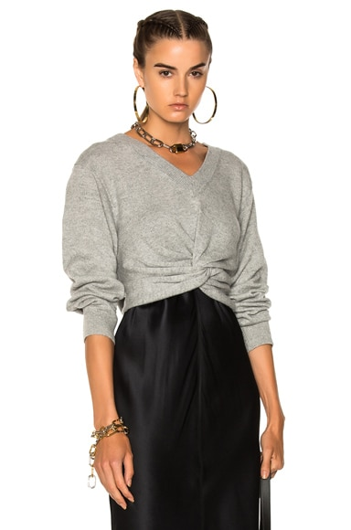 Deep V Twist Front Sweater
