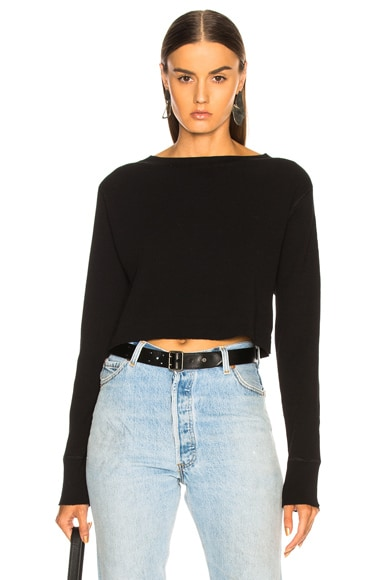 Cropped Boatneck Sweater