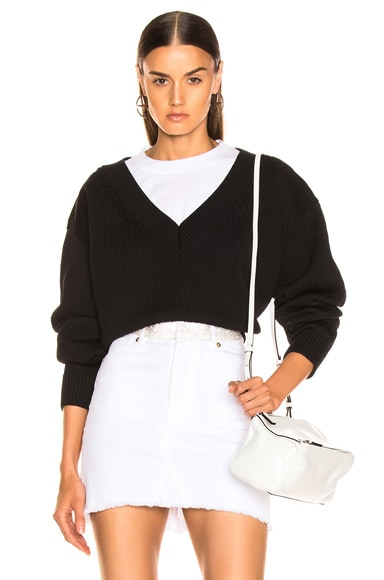 Mix Media Crewneck Sweater