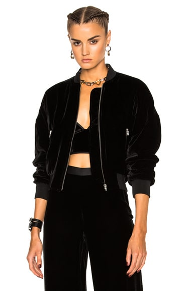 Slightly Batted Bomber Jacket