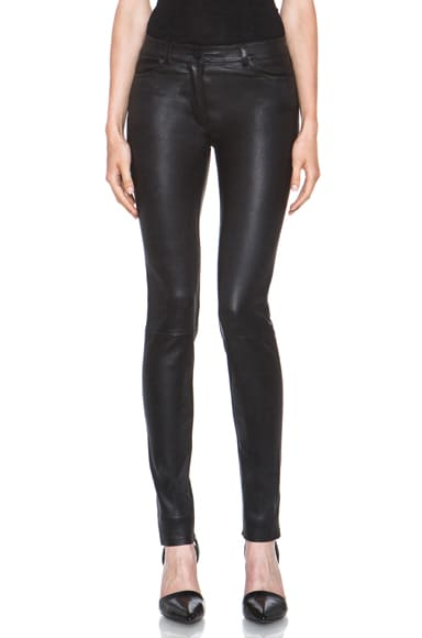 Stretch Leather Jeans