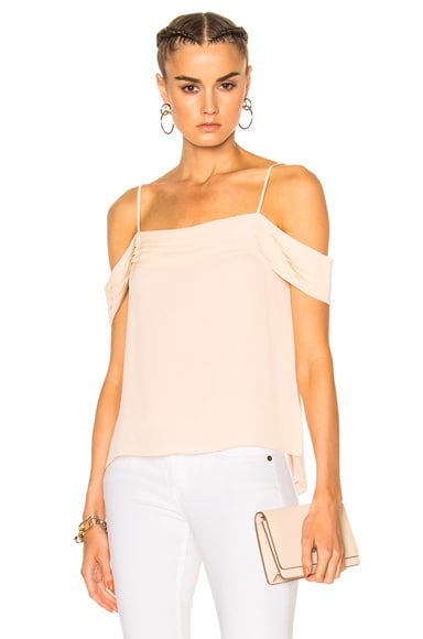 Silk Pleated Off The Shoulder Top