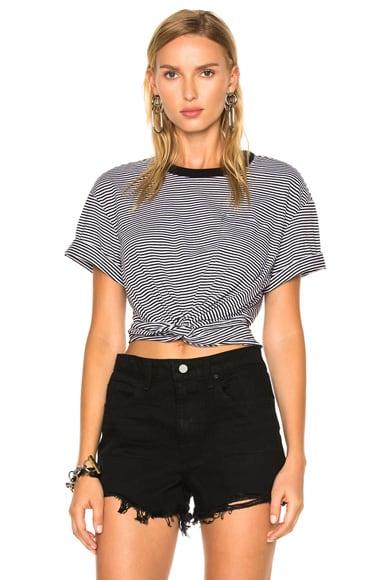 Cotton Jersey Twist Front Short Sleeve Tee