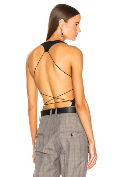 Criss Cross Back Strap Bodysuit