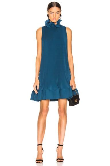 Pleated Short Sleeveless Dress
