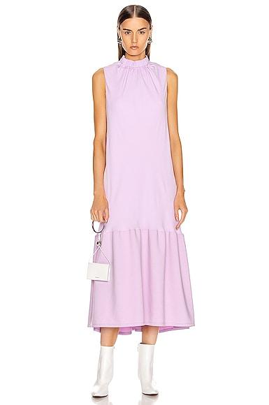 Modern Drape Sculpted Drape Long Dress