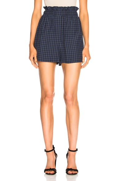 Viscose Gingham Pull On Shorts