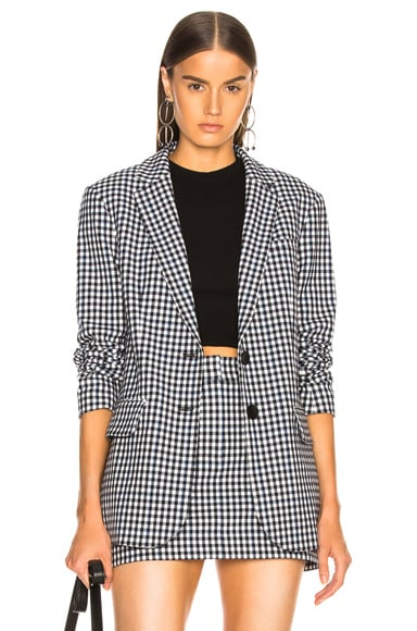Gingham Suiting Men's Blazer