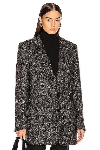 Multi Color Tweed Long Blazer