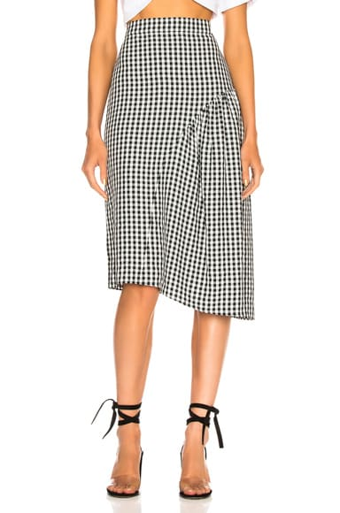 Boatneck Midi Skirt