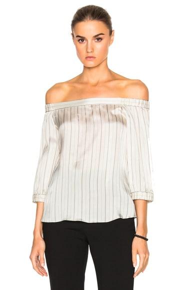 Striped Off Shoulder Top